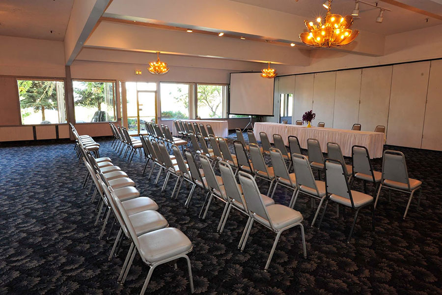 meeting room with rows of chairs at Shilo Inns Richland